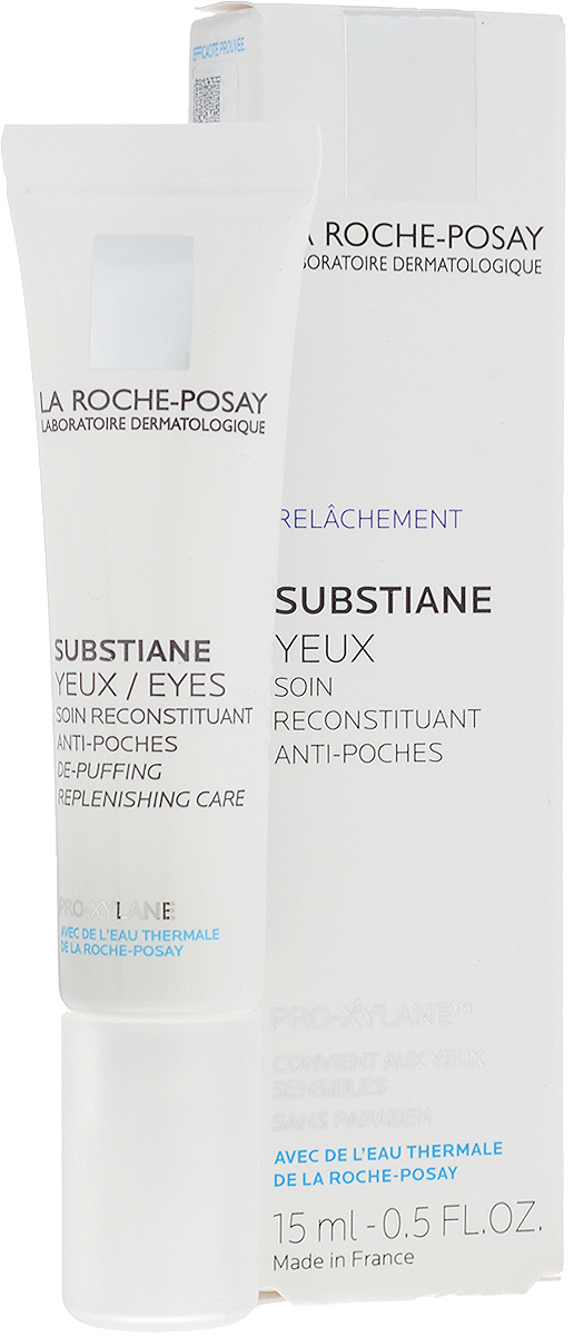 """La Roche-Posay Восстанавливающее средство для контура глаз для зрелой кожи Substiane [+] 15 млFS-00897Инновация для зрелой кожи Инновация для зрелой кожи: уникальное сочетание компонентов LINACTYL + PRO-XYLANE™ улучшает регенерацию кожи, воздействуя на ее структуру..Обеспечивает коже длительное чувство комфорта, возвращает ей сияющий вид. Клинические исследования подтвердили эффективное воздействие SUBSTIANE - кожа становится более подтянутой, """"мешки"""" под глазами уменьшаются."""