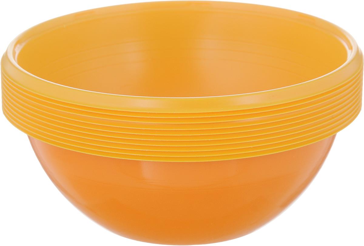Набор одноразовых салатников Buffet Biсolor. Бразильский апельсин, 380 мл, 10 шт25374Набор Buffet Biсolor. Бразильский апельсин состоит из 10 салатников. Изделия, изготовленные из высококачественной полистирола, сочетают в себе изысканный дизайн с максимальной функциональностью.Одноразовые салатники незаменимы в поездках на природу и на пикниках. Они не займут много места, легки и самое главное - после использования их не надо мыть.Диаметр салатника (по верхнему краю): 12 см.Высота стенки: 4,5 см.