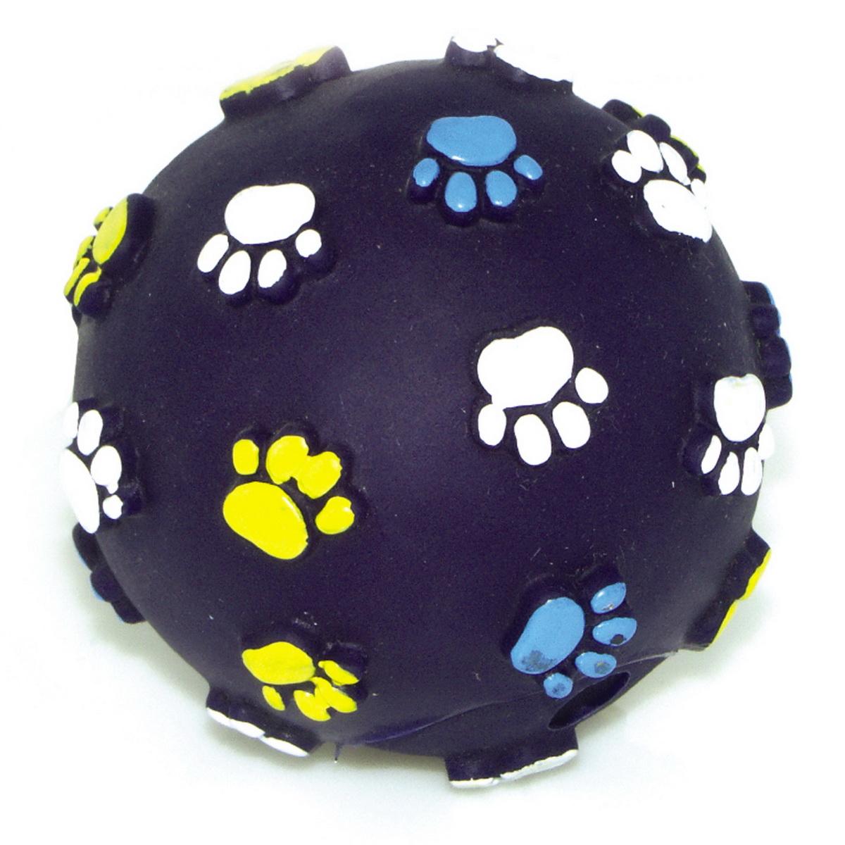 Игрушка для собак Dezzie Мяч. Лапы, цвет: темно-синий, диаметр 6,2 смGLG039Игрушка для собак Dezzie Мяч. Лапы изготовлена из винила в виде мяча с изображением лап. Такая игрушка практична, функциональна и совершенно безопасна для здоровья животного. Ее легко мыть и дезинфицировать. Игрушка очень легкая, поэтому собаке совсем нетрудно брать ее в пасть и переносить с места на место. Игрушка для собак Dezzie Мяч. Лапы станет прекрасным подарком для неугомонного четвероногого питомца.Диаметр мяча: 6,2 см.