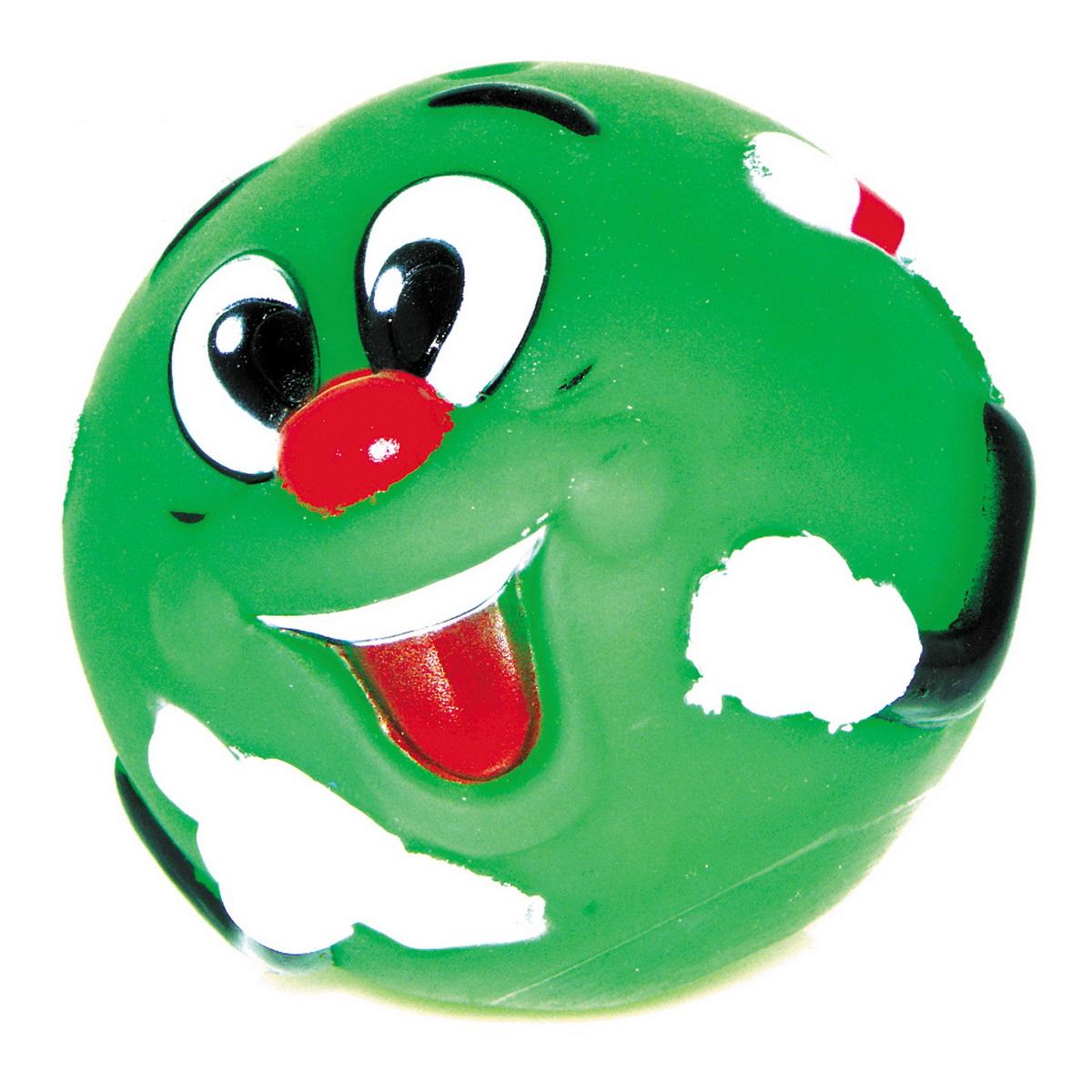 Игрушка для собак Dezzie Мяч. Собачья радость, цвет: зеленый, диаметр 8,5 см. 5604006117Игрушка для собак Dezzie Мяч. Собачья радость из винила практична, функциональна и совершенно безопасна для здоровья животного. Ее легко мыть и дезинфицировать. Такая игрушка очень легкая, поэтому собаке совсем нетрудно брать ее в пасть и переносить с места на место. Игрушка из винила станет прекрасным подарком для неугомонного четвероногого питомца.Диаметр мяча: 8,5 см.