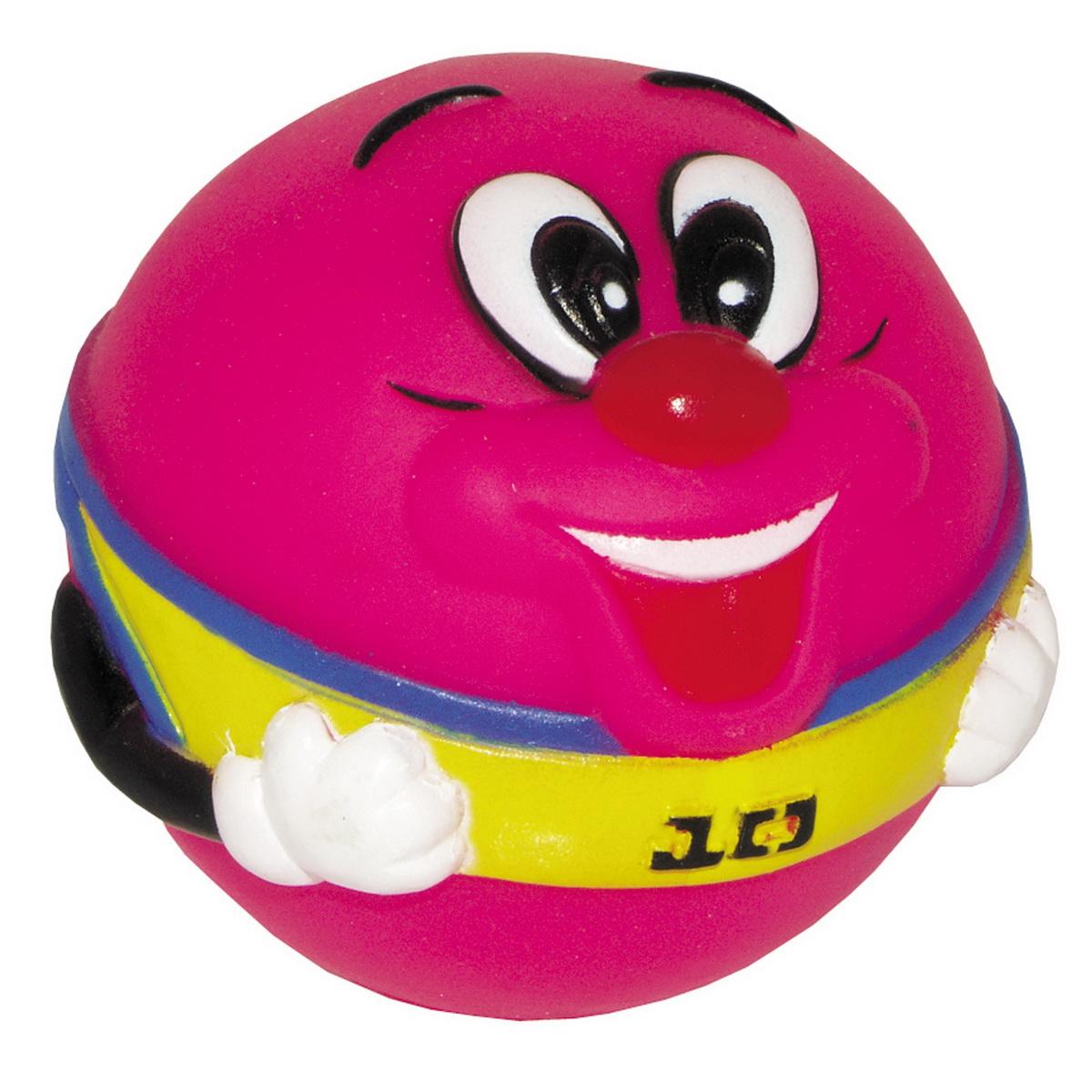 Игрушка для собак Dezzie Мяч. Собачья радость, цвет: розовый, диаметр 8,5 см. 56040084023_aИгрушка для собак Dezzie Мяч. Собачья радость из винила практична, функциональна и совершенно безопасна для здоровья животного. Ее легко мыть и дезинфицировать. Такая игрушка очень легкая, поэтому собаке совсем нетрудно брать ее в пасть и переносить с места на место. Игрушка из винила станет прекрасным подарком для неугомонного четвероногого питомца.Диаметр мяча: 8,5 см.