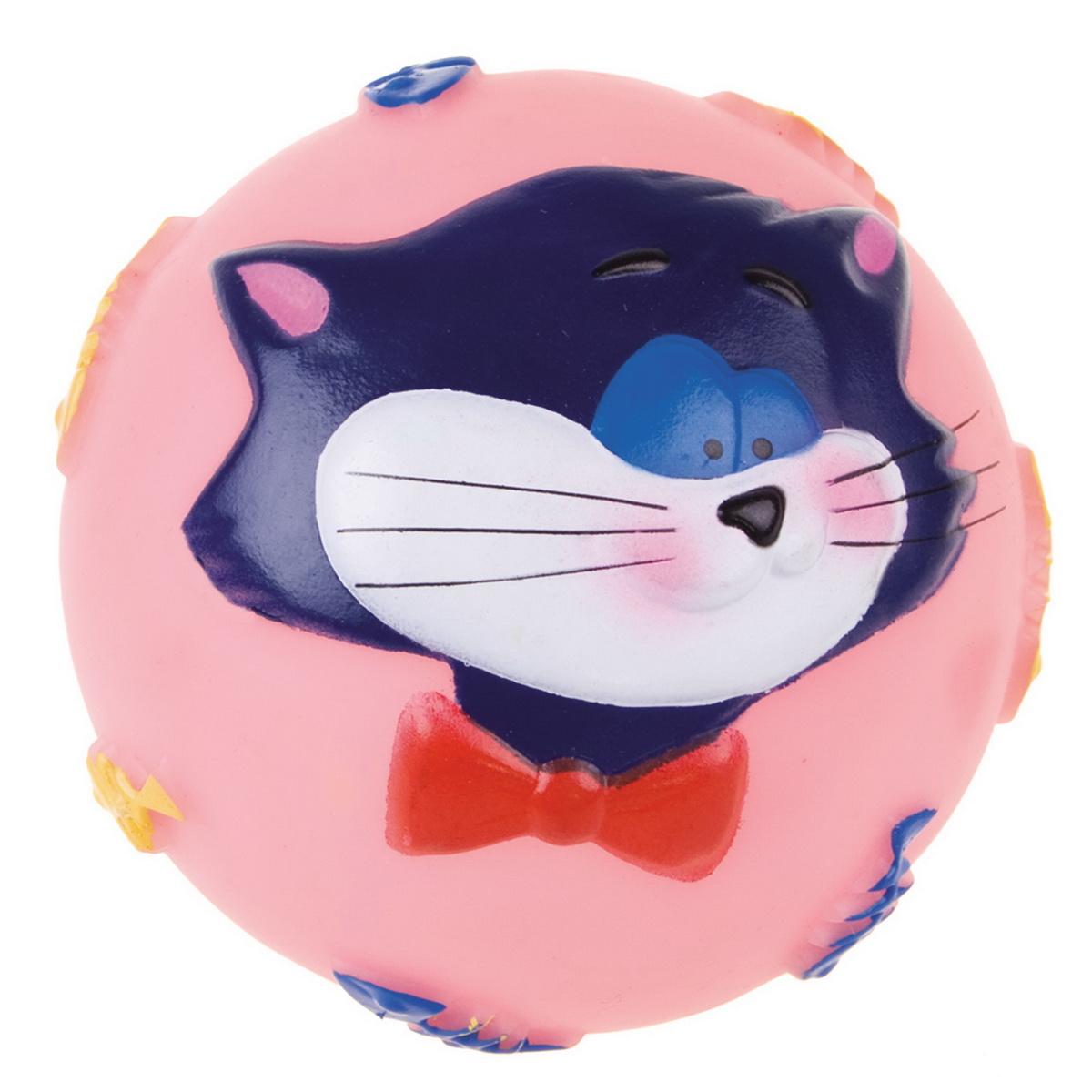 Игрушка для собак Dezzie Мяч. Кошачья улыбка, диаметр 7,5 см27799306_зеленыйИгрушка для собак Dezzie Мяч. Кошачья улыбка изготовлена из винила в виде мяча с изображением кота. Такая игрушка практична, функциональна и совершенно безопасна для здоровья животного. Ее легко мыть и дезинфицировать. Игрушка очень легкая, поэтому собаке совсем нетрудно брать ее в пасть и переносить с места на место. Игрушка для собак Dezzie Мяч. Кошачья улыбка станет прекрасным подарком для неугомонного четвероногого питомца.Диаметр мяча: 7,5 см.