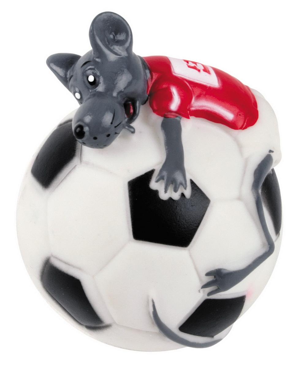 Игрушка для собак Dezzie Мяч. Мышиный футбол, диаметр 10 см0120710Игрушка для собак Dezzie Мяч. Мышиный футбол изготовлена из винила в виде футбольного мяча с мышонком. Такая игрушка практична, функциональна и совершенно безопасна для здоровья животного. Ее легко мыть и дезинфицировать. Игрушка очень легкая, поэтому собаке совсем нетрудно брать ее в пасть и переносить с места на место. Игрушка для собак Dezzie Мяч. Мышиный футбол станет прекрасным подарком для неугомонного четвероногого питомца.Диаметр мяча: 10 см.
