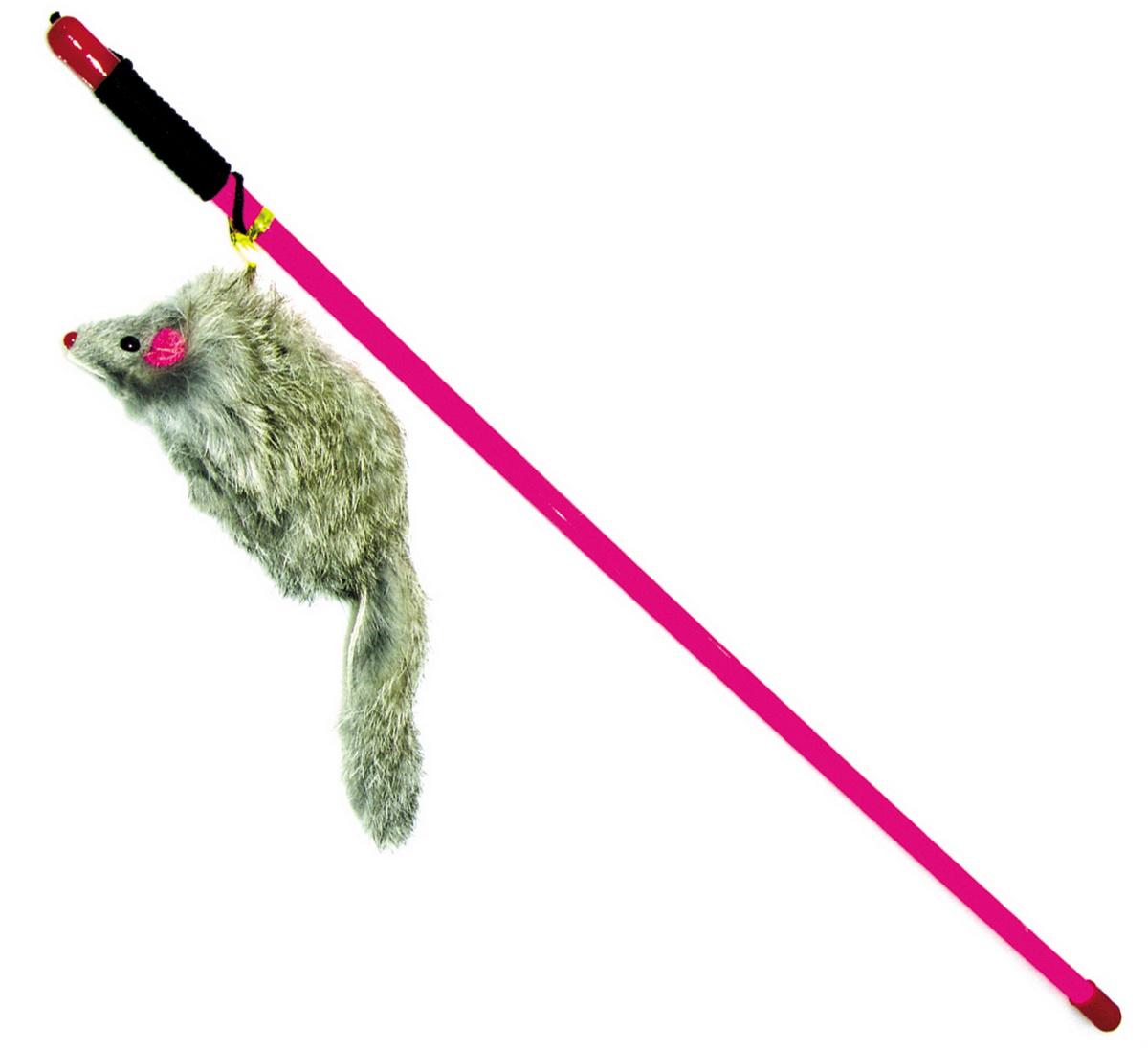 Игрушка-дразнилка для кошек Dezzie Мышь, 47 см314Игрушка-дразнилка для кошек Dezzie Мышь станет любимой игрушкой для кошек и котят.Мышка серого цвета на конце дразнилки сразу привлечет внимание вашего любимца, не навредит здоровью, и заинтересует его на долгое время. Играя с этой забавной игрушкой, маленькие котята развиваются физически, а взрослые кошки и коты поддерживают свой мышечный тонус.Длина игрушки: 47 см.