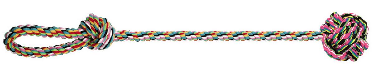 Игрушка для собак Dezzie Веревка №5, длина 55 см5608070Игрушка для собак Dezzie Веревка №5 изготовлена из натуральной хлопковой веревки, поэтому не только увлекательна, но и полезна для здоровья домашних животных. Во время игры питомец тренирует десны и очищает свои зубы от камня. Веревочные игрушки - это одни из самых популярных игрушек для собак. Длина игрушки: 55 см.