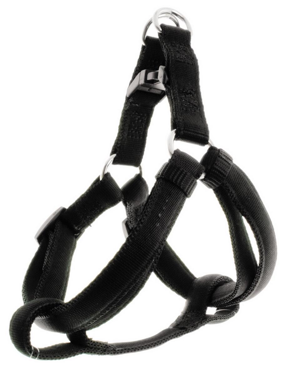 Шлейка для собак Dezzie, цвет: черный, ширина 1 см, обхват груди 25-40 см шлейка для собак dezzie цвет черный ширина 1 см обхват шеи 25 см обхват груди 28 33 см размер s 5624007