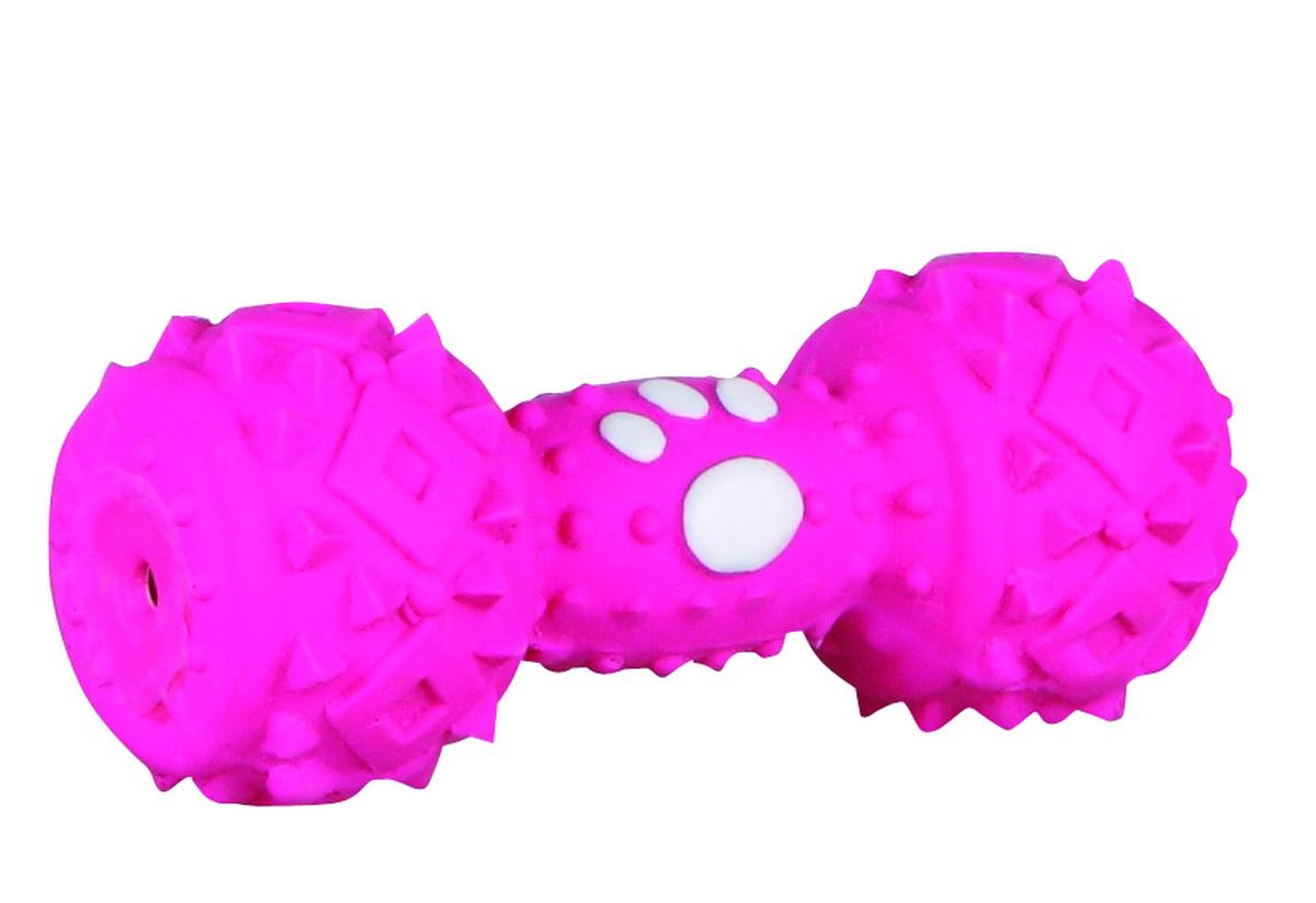 Игрушка для собак Dezzie Гантель, цвет: розовый, длина 10 см0120710Игрушка для собак Dezzie Гантель изготовлена из латекса. Она безопасна для здоровья животного. Латекс не твердеет под действием желудочного сока, поэтому игрушку можно смело покупать даже самым маленьким щенкам.Очаровательная игрушка обеспечит досуг собаке и не позволит ей скучать. Длина игрушки: 10 см.