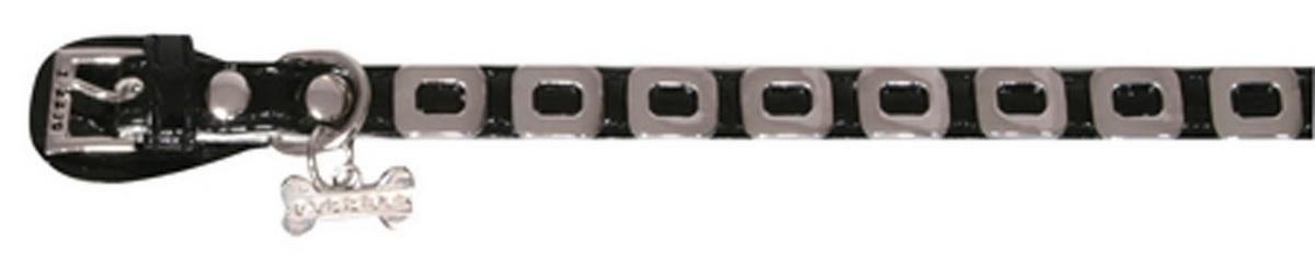 Ошейник для собак Dezzie, цвет: черный, обхват шеи 25 см, ширина 1 см. Размер XS. 5624349С-51 сумочка для лакомств Кошелек_конфеткиОшейник для собак Dezzie изготовлен из искусственной кожи и декорирован металлическими элементами и подвеской в виде косточки со стразами. Он устойчив к влажности и перепадам температур. Клеевой слой, сверхпрочные нити и крепкие металлические элементы делают ошейник надежным и долговечным.Имеется металлическое кольцо для крепления поводка. Изделие отличается высоким качеством, удобством и универсальностью, а также имеет эффектный внешний вид. Обхват шеи: 25 см. Ширина ошейника: 1 см.