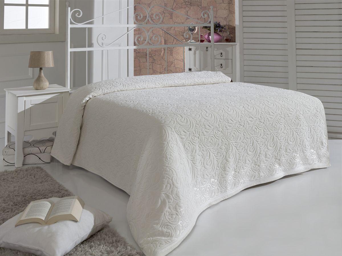 Простыня махровая Karna Esra, цвет: кремовый, 200 x 220 см07889-196Махровая простыня Karna Esra изготовлена из 100% хлопка.Простыня приятная и нежная на ощупь, ее можно использовать как простыню, так и в качестве покрывала. Оригинальный дизайн придает изделию уникальность и оригинальность.Размер простыни: 200 x 220 см.