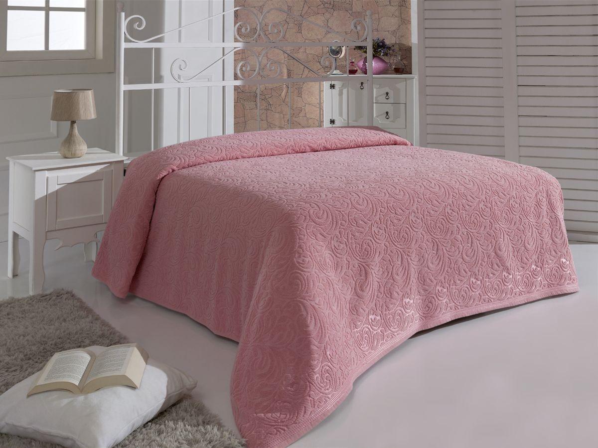 Простыня махровая Karna Esra, цвет: розовый, 200 x 220 смWUB 5647 weisПростыня махровая Karna изготовлена из высококачественных хлопковых нитей.Махровая простыня очень приятная и нежная на ощупь, её можно использовать как простынь, так и в качестве покрывала. Размер: 200 х 220 см.