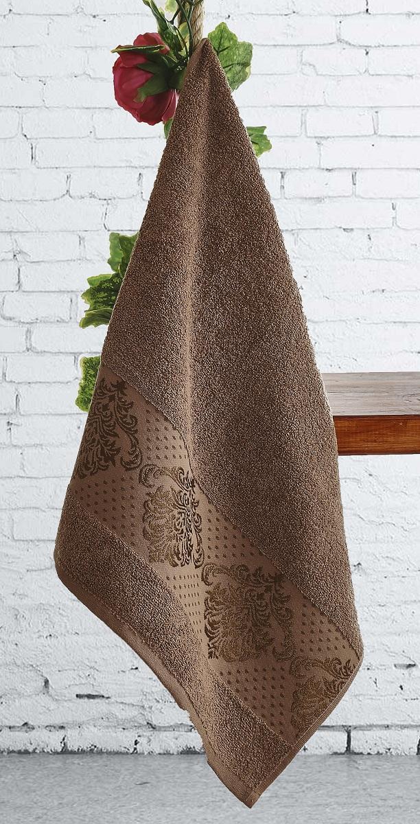 Полотенце Karna Dora, цвет: коричневый, 70 х 140 см2189/CHAR005