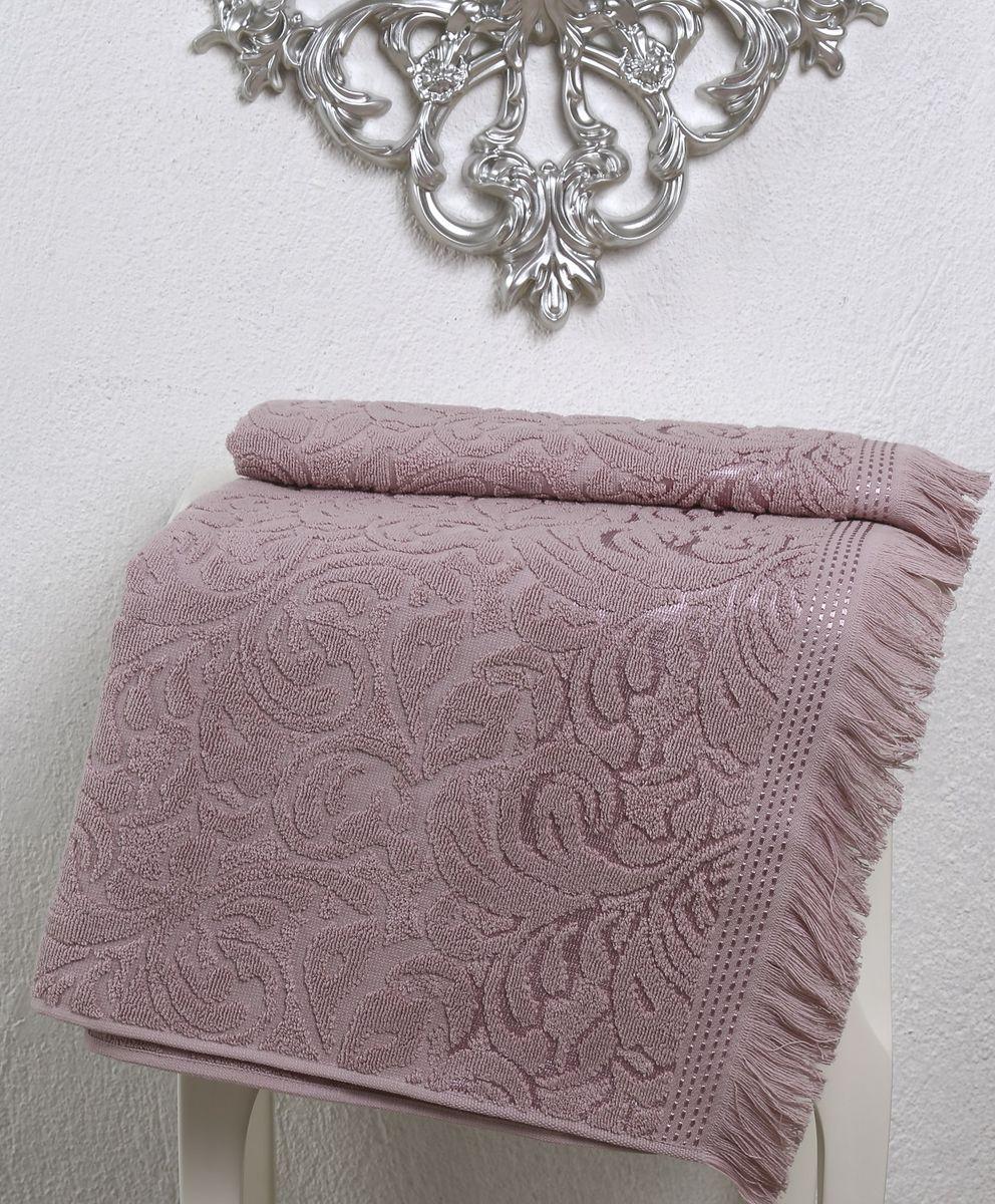 Полотенце Karna Esra, цвет: пыльная роза, 70 х 140 см68/5/3Махровое полотенце Karna Esra выполнено из 100% хлопка. Оно прекрасно впитывает влагу и быстро сохнет. Повсему полотенцу имеется привлекательный узор. По канту полотенца имеется нежная бахрома. Махровое полотенце из натурального хлопка, обладает гигиеническими качествами, очень мягкое, с объемнымравномерным ворсом, приятное на ощупь и к телу. Размер: 70 х 140 см.