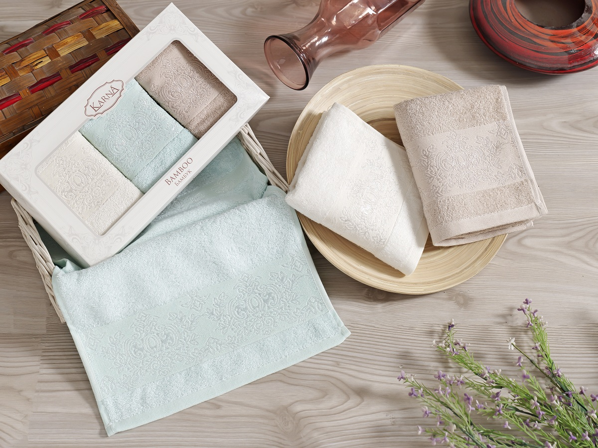Набор кухонных полотенец Karna Pandora, 30 х 50 см, 3 шт. 2199/CHAR0022199/CHAR002