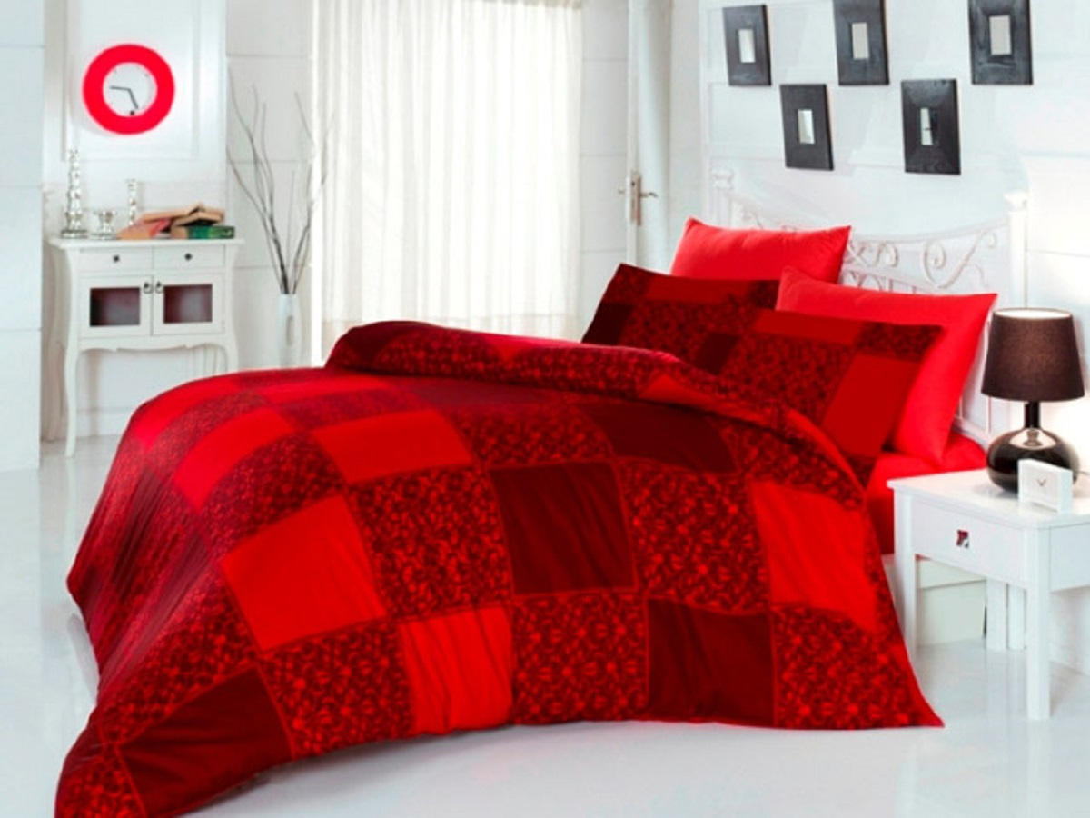 Комплект белья Altinbasak Moda, 2-спальный, наволочки 50х70, цвет: бордовый255/2/18/CHAR001