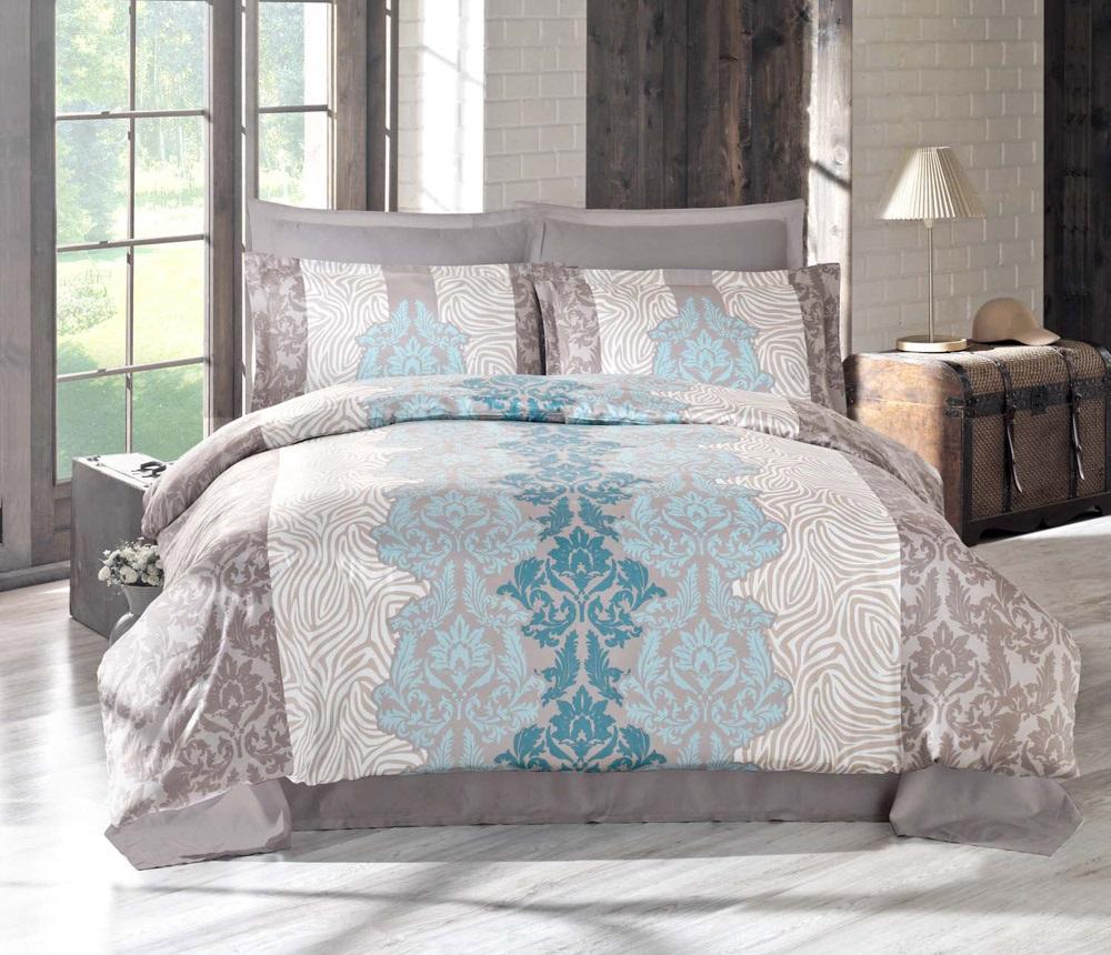Комплект белья Altinbasak Vivid, 2-спальный, наволочки 50х70, цвет: коричневый256/19/CHAR001