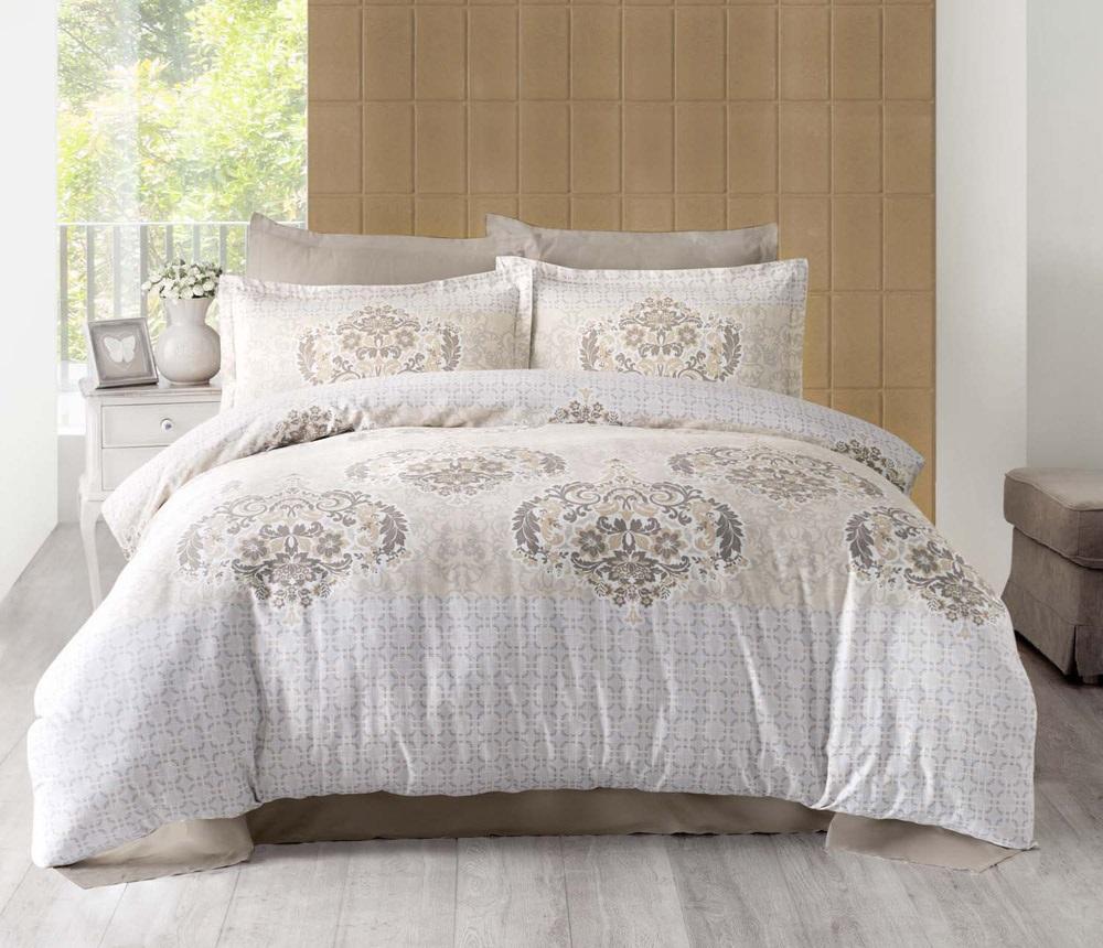 Комплект белья Altinbasak Sayka, 2-спальный, наволочки 50х70, цвет: кремовый256/21/CHAR001