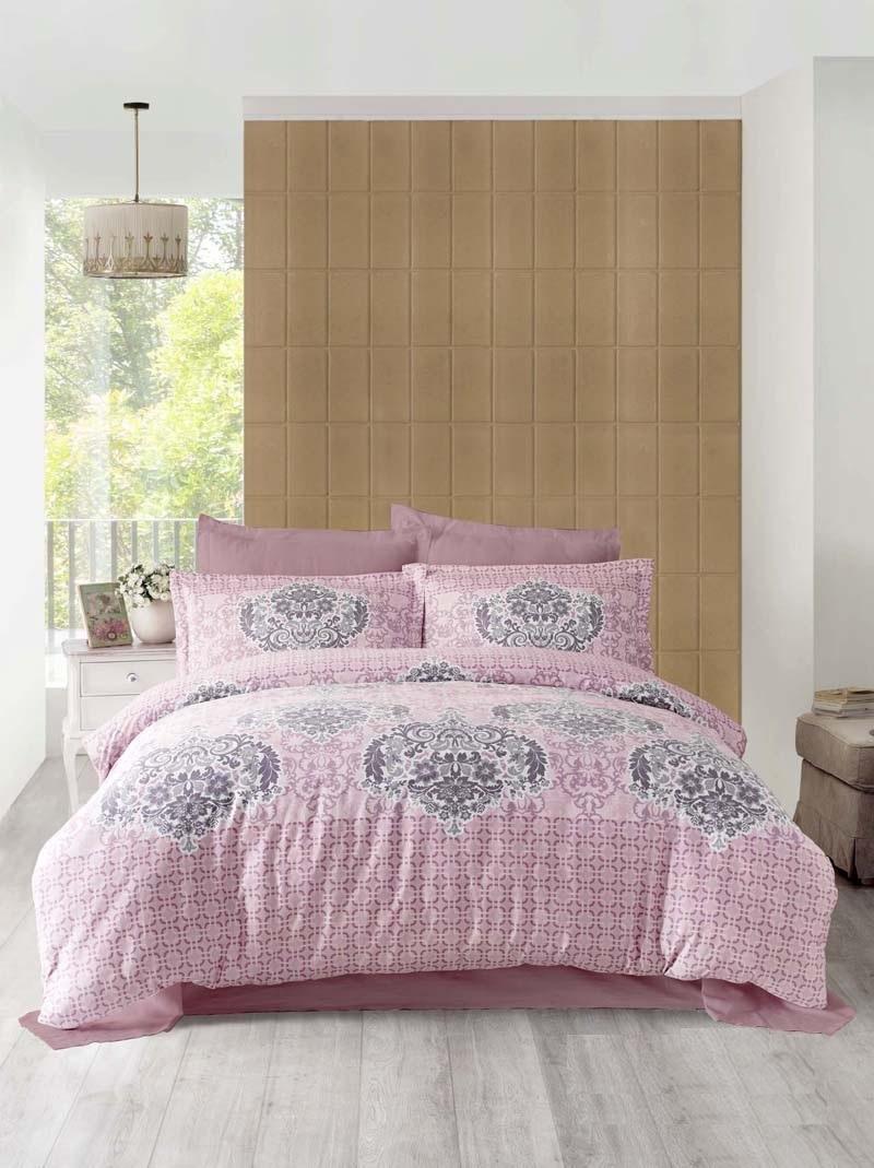 Комплект белья Altinbasak Sayka, 2-спальный, наволочки 50х70, цвет: грязно-розовый256/21/CHAR003
