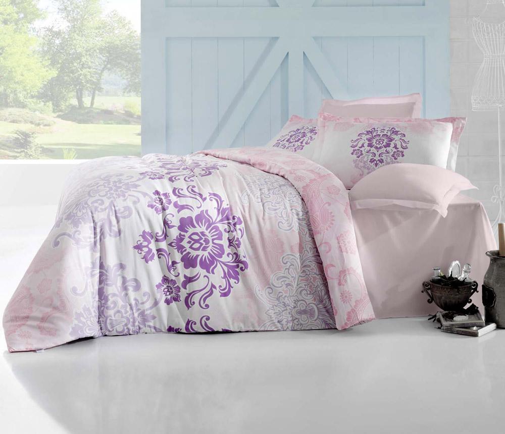 Комплект белья Altinbasak Ilma, 2-спальный, наволочки 50х70, цвет: розовый256/25/CHAR002