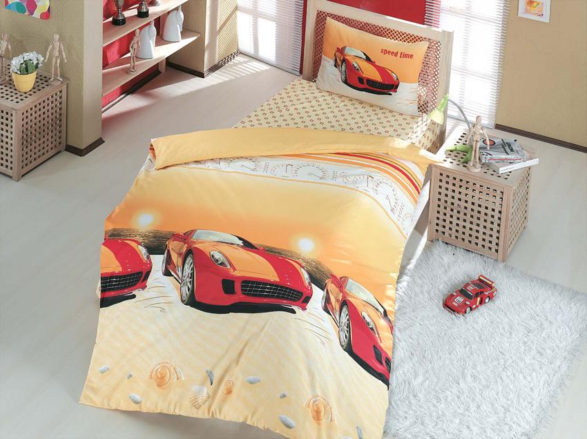 Комплект белья Altinbasak Speed Time, 1,5-спальный, наволочки 50х70, цвет: красный296/4/CHAR002