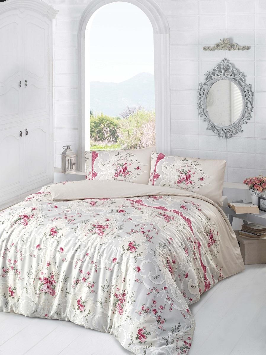 Комплект белья Altinbasak Duru, 2-спальный, наволочки 50х70, цвет: бежевый297/12/CHAR001