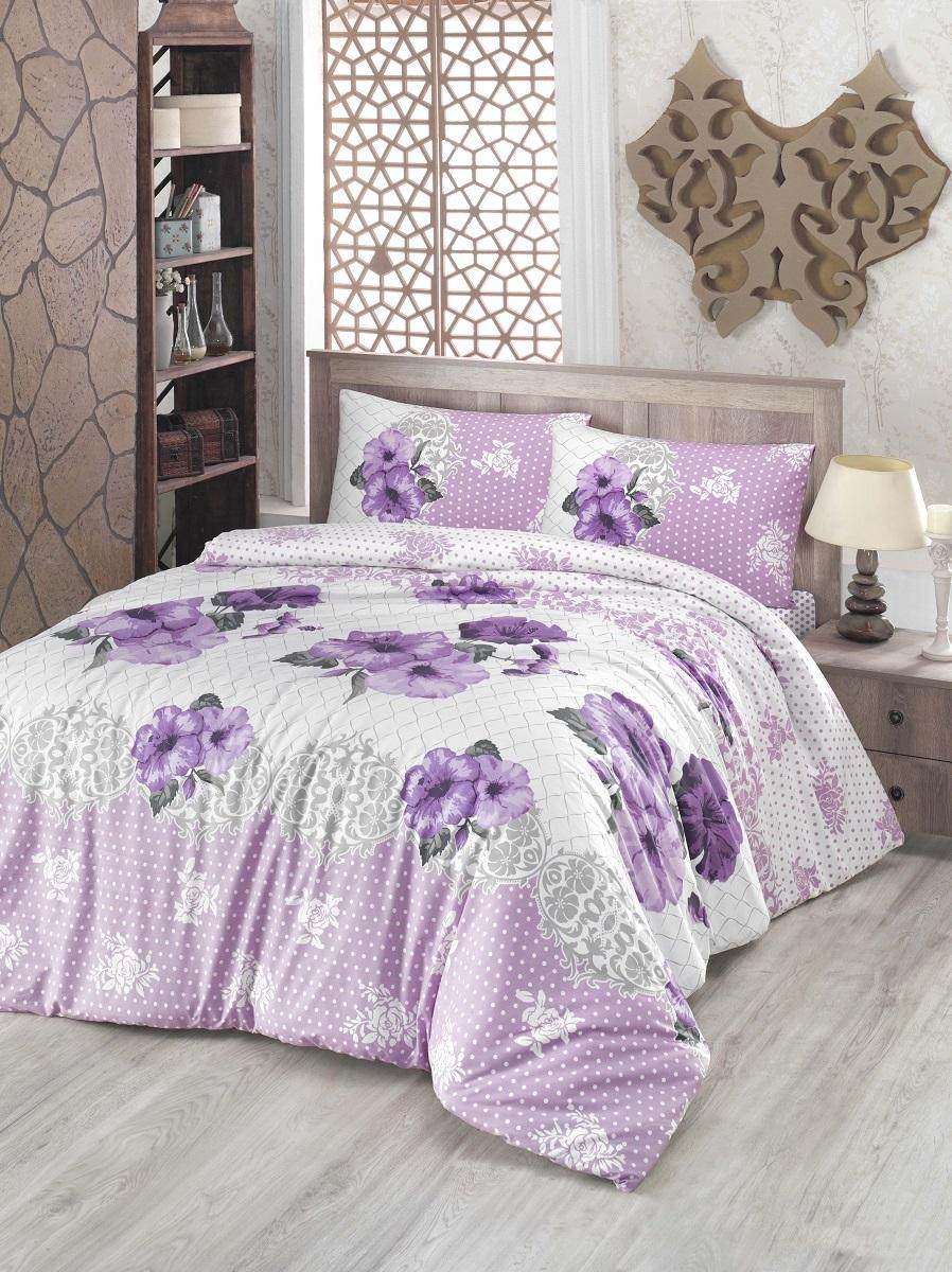 Комплект белья Altinbasak Guldem, 2-спальный, наволочки 50х70, цвет: сиреневый297/17/CHAR003