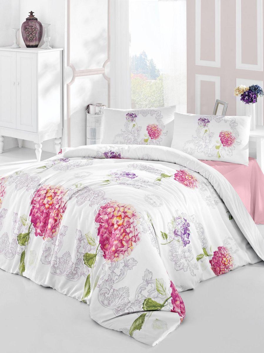 Комплект белья Altinbasak Hidra, 2-спальный, наволочки 50х70, цвет: розовый297/19/CHAR001