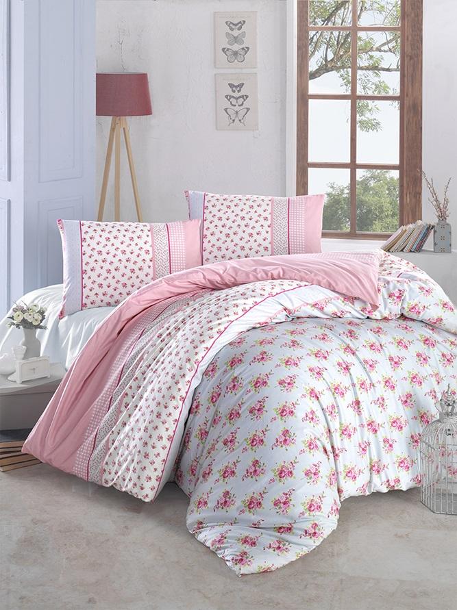 Комплект белья Altinbasak Ahsen, 2-спальный, наволочки 50х70, цвет: розовый297/1/CHAR003