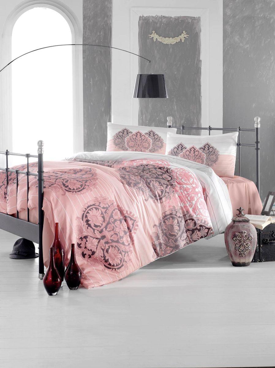 Комплект белья Altinbasak Leyan, 2-спальный, наволочки 50х70, цвет: фуксия297/24/CHAR002