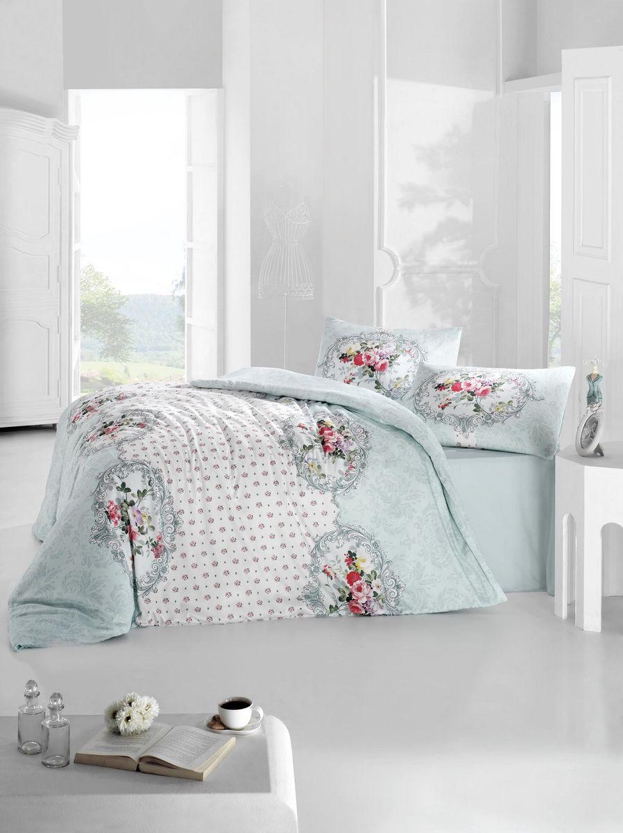 Комплект белья Altinbasak Mira, 2-спальный, наволочки 50х70, цвет: голубой297/26/CHAR001