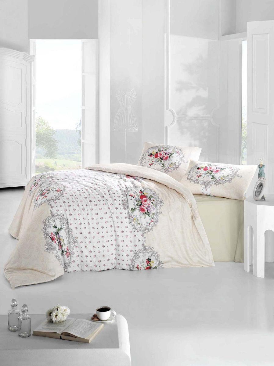 Комплект белья Altinbasak Mira, 2-спальный, наволочки 50х70, цвет: кремовый297/26/CHAR002