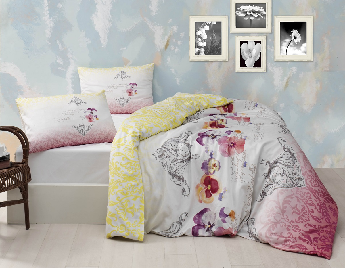 Комплект белья Altinbasak Mona, 2-спальный, наволочки 50х70, цвет: светло-лаванда297/27/CHAR002