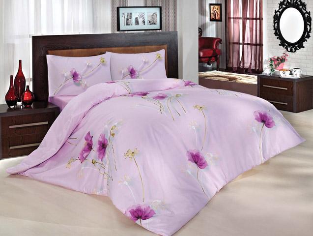 Комплект белья Altinbasak Nazenin, 2-спальный, наволочки 50х70, цвет: сиреневый297/29/CHAR002