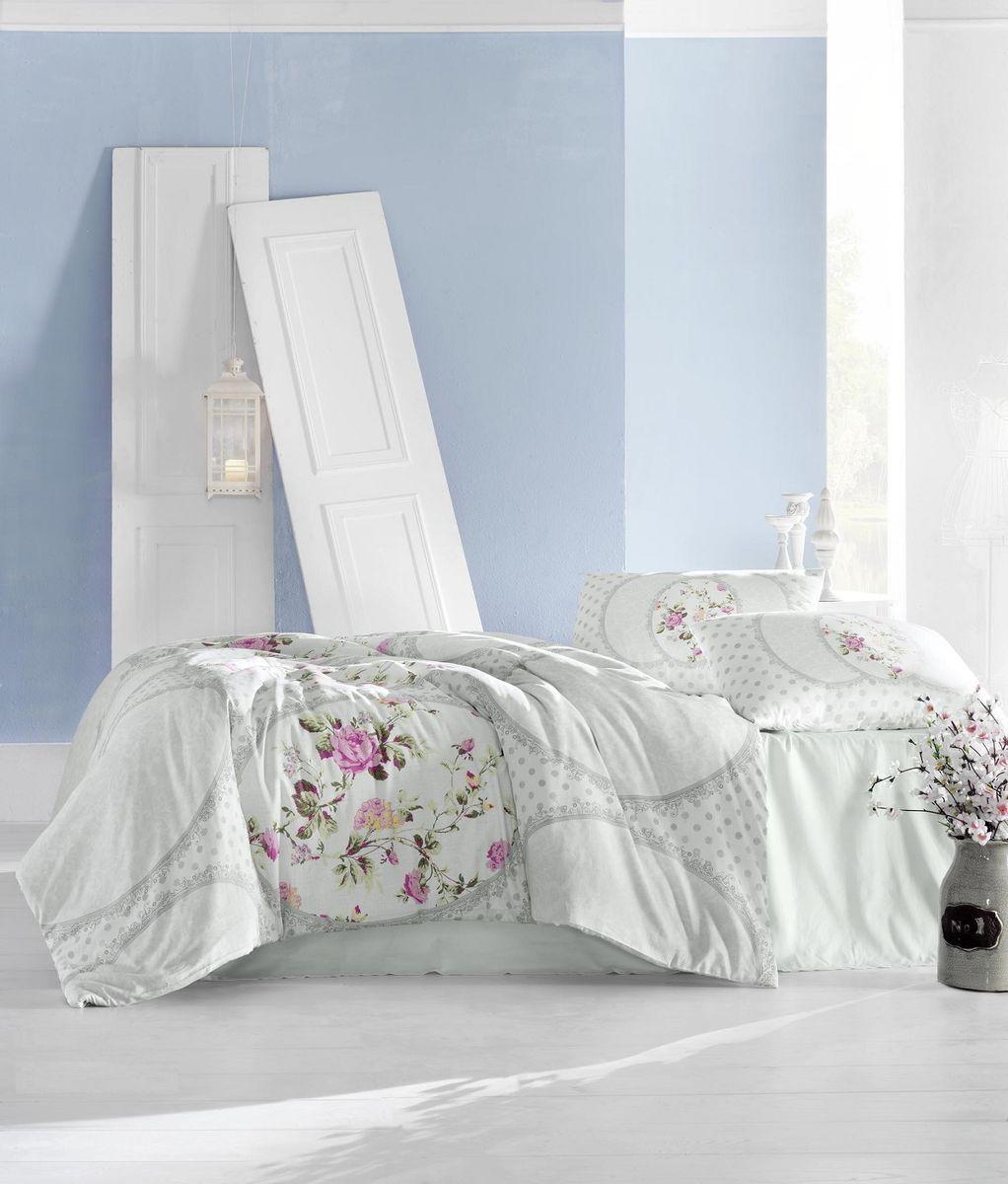 Комплект белья Altinbasak Perlita, 2-спальный, наволочки 50х70, цвет: светло-зеленый297/31/CHAR002