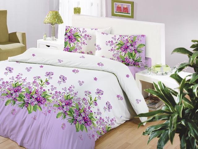 Комплект белья Altinbasak Sumbul, 2-спальный, наволочки 50х70, цвет: сиреневый297/36/CHAR002