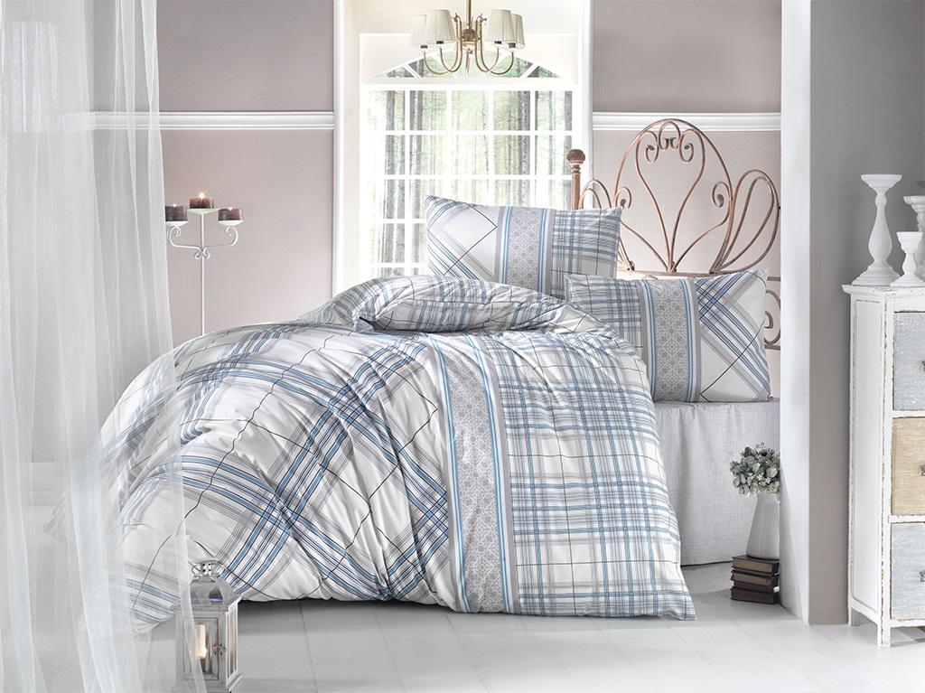 Комплект белья Altinbasak Viola, 2-спальный, наволочки 50х70, цвет: бирюзовый297/38/CHAR001