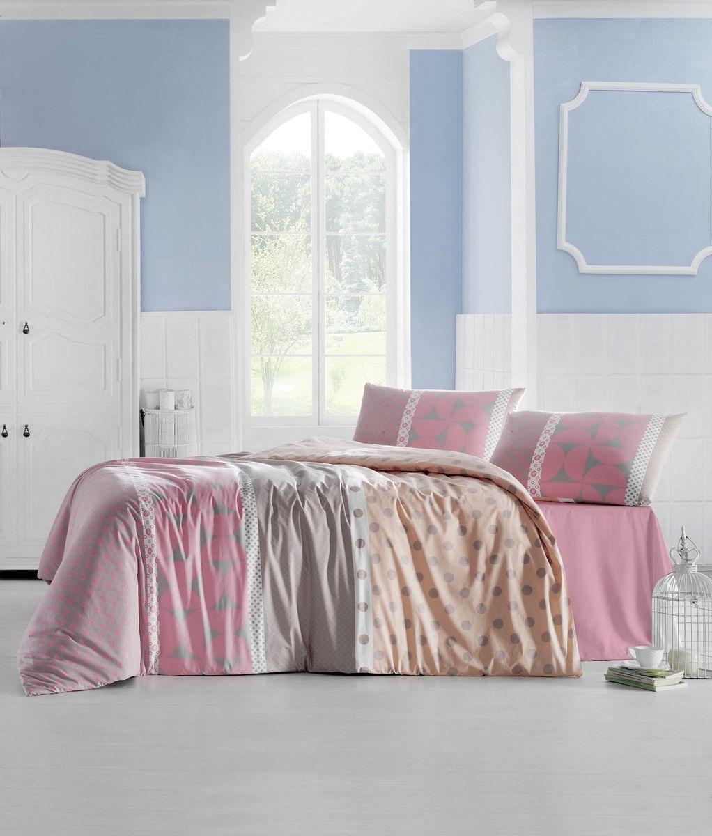 Комплект белья Altinbasak Aleda, 2-спальный, наволочки 50х70, цвет: розовый297/3/CHAR003