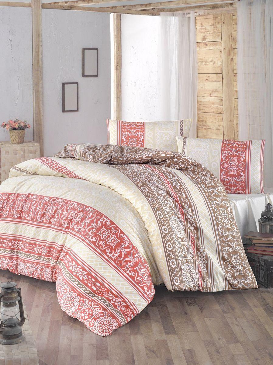 Комплект белья Altinbasak Monica, 2-спальный, наволочки 50х70, цвет: брусничный297/42/CHAR003