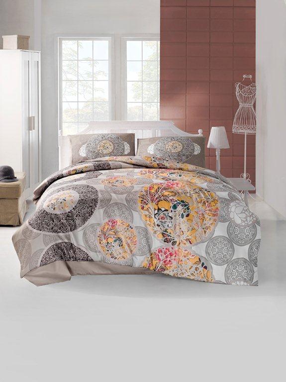 Комплект белья Altinbasak Izem, 2-спальный, наволочки 50х70, цвет: коричневый297/50/CHAR002