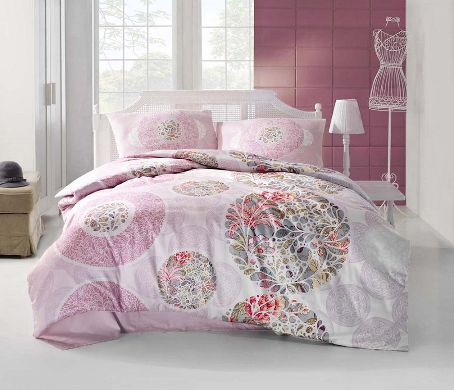 Комплект белья Altinbasak Izem, 2-спальный, наволочки 50х70, цвет: розовый297/50/CHAR003