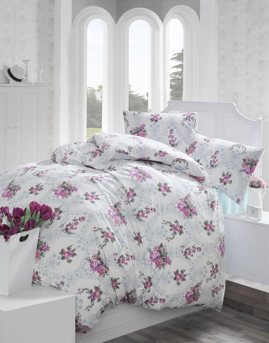 Комплект белья Altinbasak Arnes, 2-спальный, наволочки 50х70, цвет: розовый297/5/CHAR001