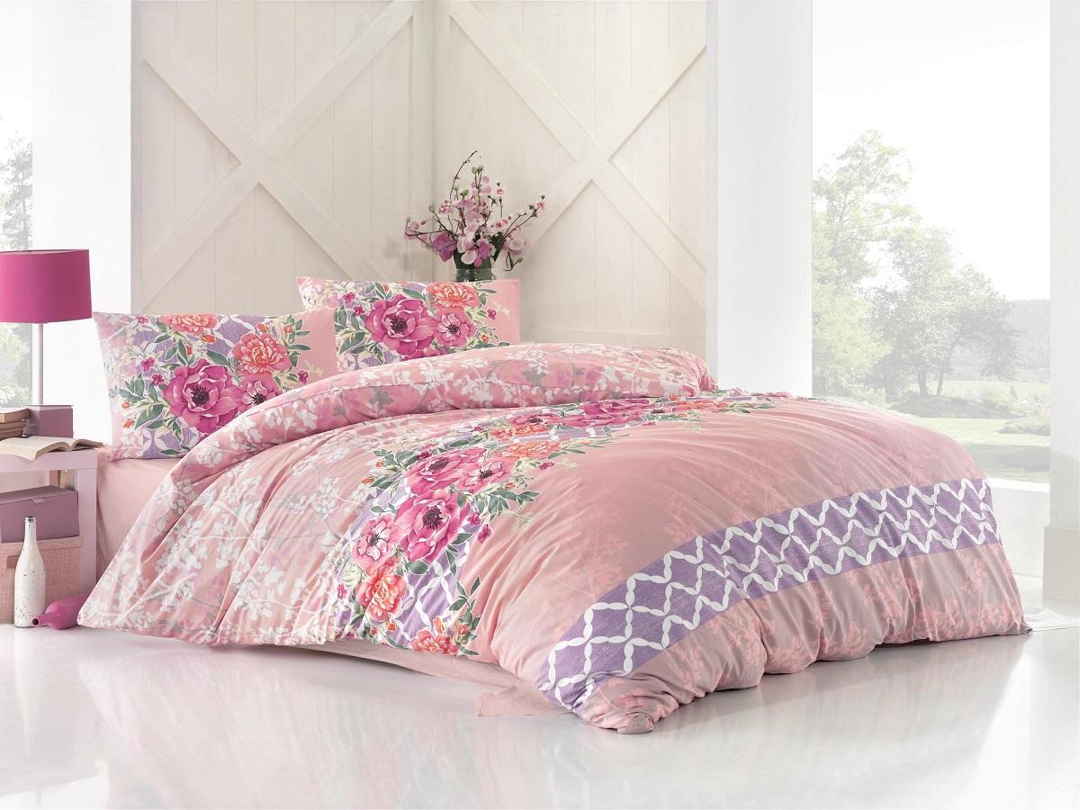 Комплект белья Altinbasak Asel, 2-спальный, наволочки 50х70, цвет: розовый297/6/CHAR002