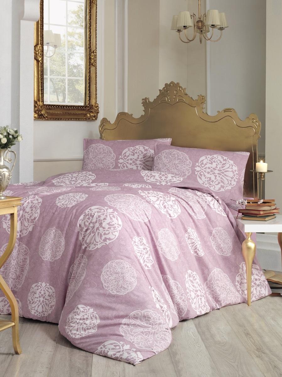 Комплект белья Altinbasak Bello, 2-спальный, наволочки 50х70, цвет: грязно-розовый297/9/CHAR001
