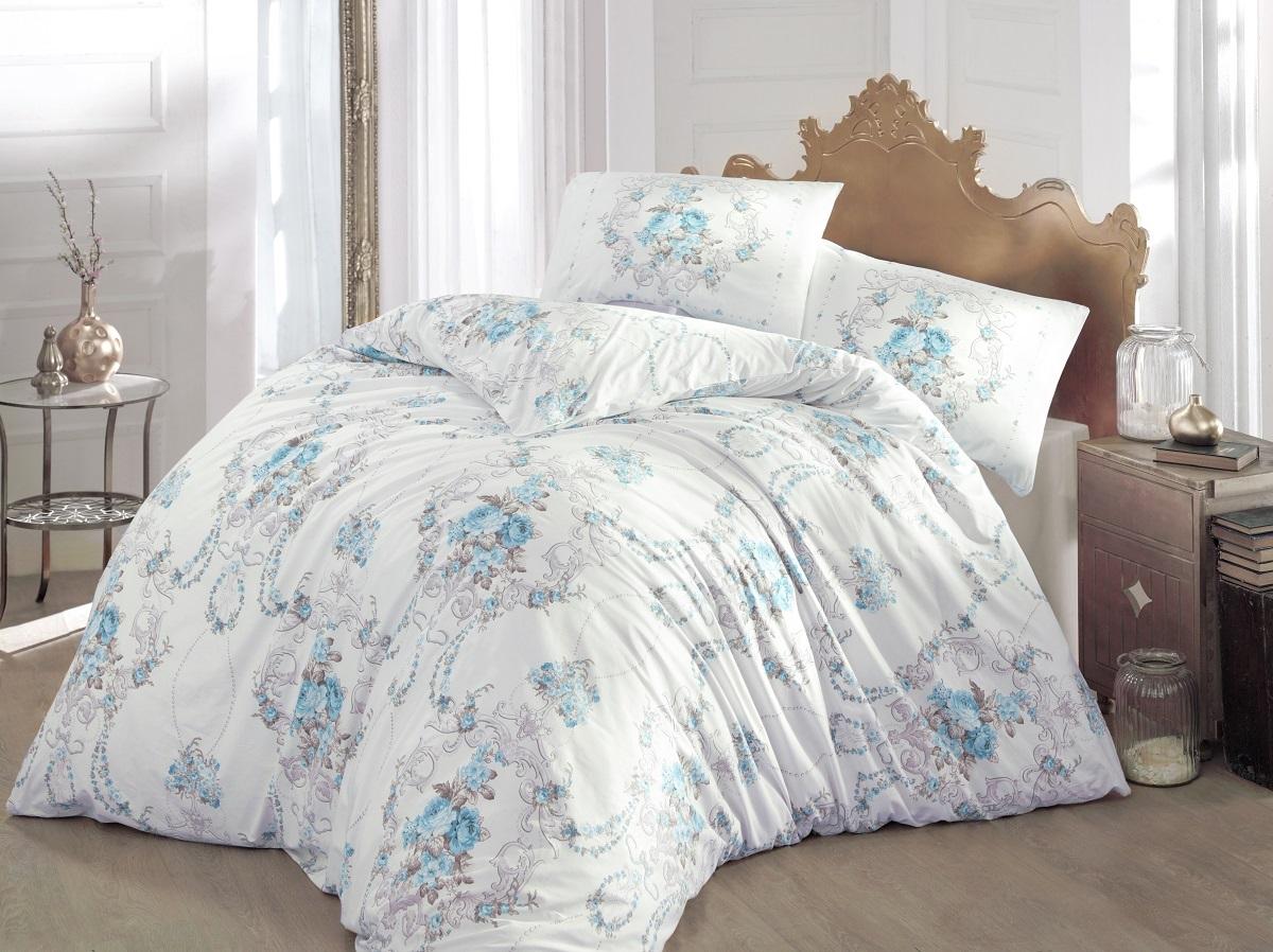 Комплект белья Altinbasak Admire, 2-спальный, наволочки 50х70, цвет: бирюзовый297/CHAR001