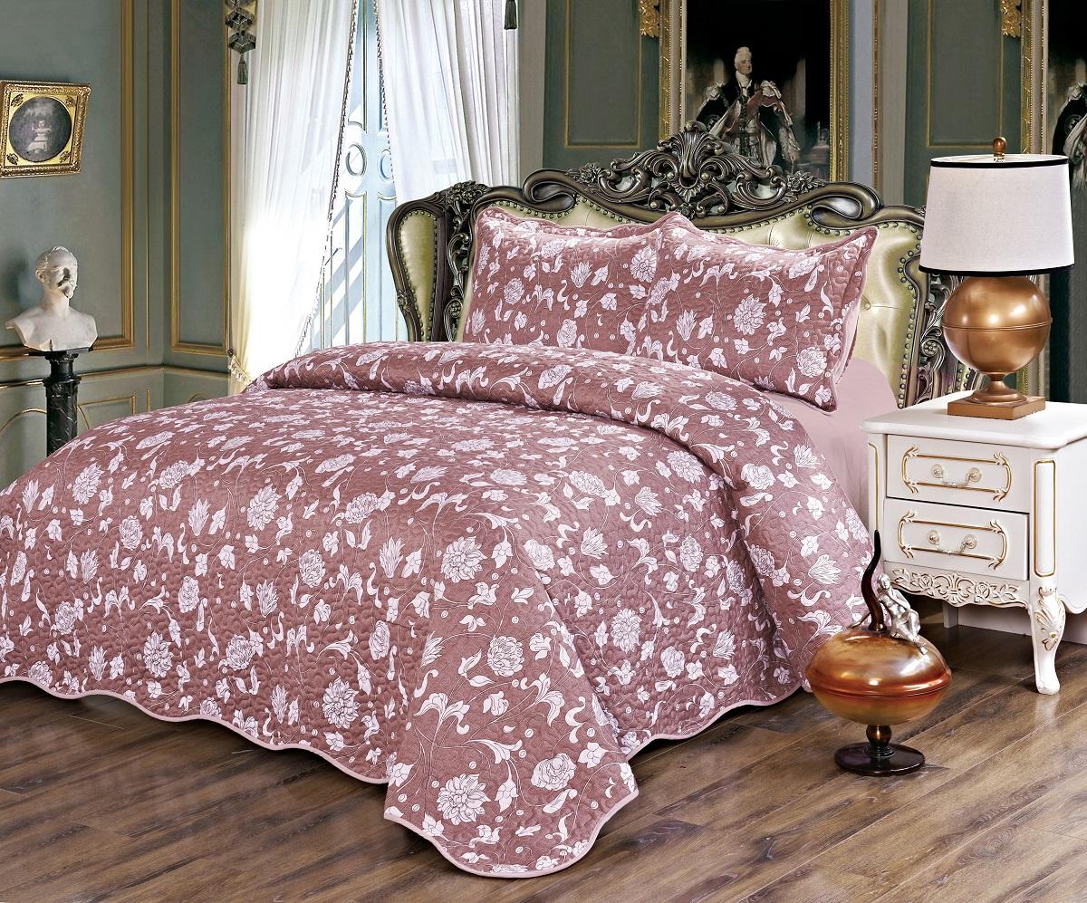 Комплект для спальни Karna Gretal: покрывало 230 х 250 см, 2 наволочки 50 х 70 см, цвет: menekse6004