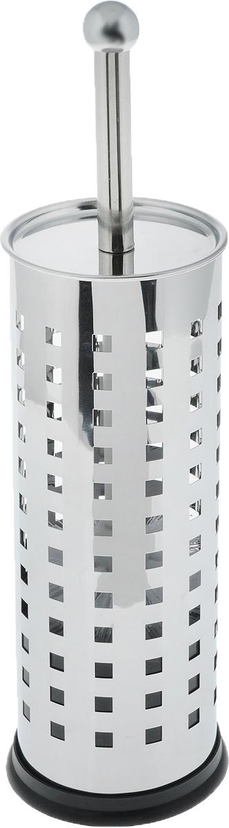 Гарнитур для туалета Axentia Квадрат, 2 предмета531-105Гарнитур для туалета Axentia Квадрат включает ершик и металлическую подставку. Ершик оснащен щеткой сжестким густым ворсом. Подставка, выполненная в виде цилиндра из нержавеющей стали, имеет крышку и декоративные отверстия.Высококачественные материалы позволят наслаждаться покупкой долгие годы. Изделие приятно дополнит интерьер вашей туалетной комнаты. Длина ершика (с ручкой): 35 см. Длина ворса: 2,5 см. Диаметр подставки: 9,5 см. Высота подставки: 27 см.
