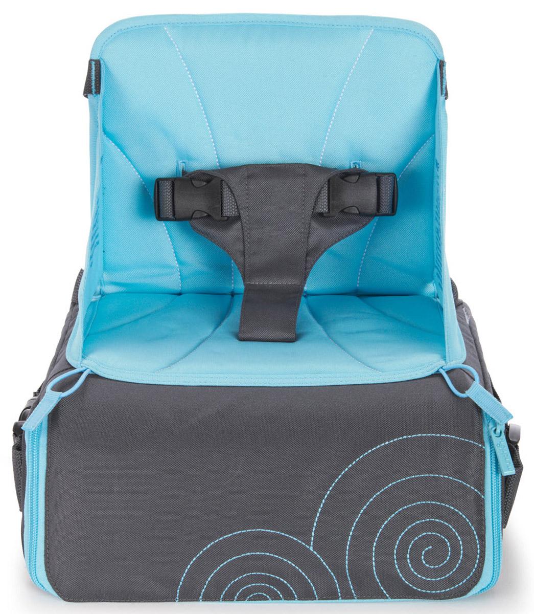 где купить  Munchkin Дорожный стульчик для кормления цвет серый голубой  по лучшей цене