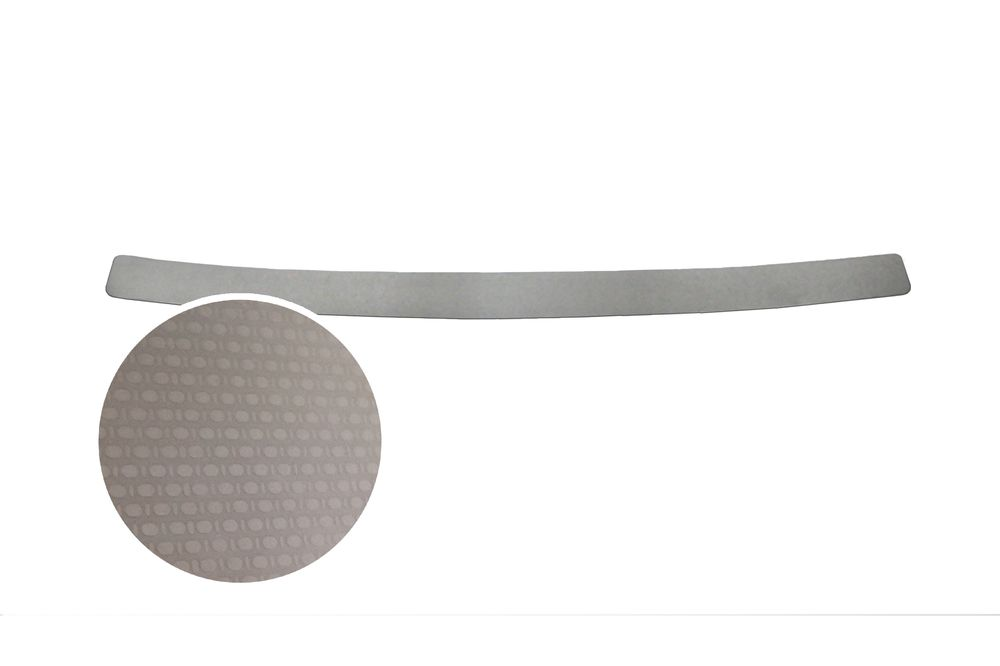"""Накладка на задний бампер Rival для Toyota Camry 2014-, 1 шт98293777Накладка на задний бампер RIVALНакладка на задний бампер защищает лакокрасочное покрытие от механических повреждений и создает индивидуальный внешний вид автомобиля- Использование высококачественной итальянской нержавеющей стали AISI 304.- Надежная фиксация на автомобиле с помощью """"фирменного"""" скотча 3М.- Рельефный рисунок накладки придает автомобилю индивидуальный внешний вид.- Идеально повторяют геометрию бампера автомобиля.Уважаемые клиенты! Обращаем ваше внимание,что накладка имеет форму и комплектацию, соответствующую модели данного автомобиля. Фото служит для визуального восприятия товара."""