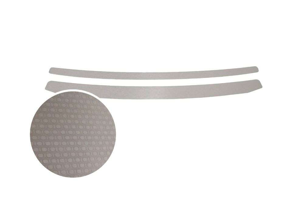 """Накладка на задний бампер Rival для Hyundai Solaris Sedan 2015-, 2 шт21395599Накладка на задний бампер RIVALНакладка на задний бампер защищает лакокрасочное покрытие от механических повреждений и создает индивидуальный внешний вид автомобиля- Использование высококачественной итальянской нержавеющей стали AISI 304.- Надежная фиксация на автомобиле с помощью """"фирменного"""" скотча 3М.- Рельефный рисунок накладки придает автомобилю индивидуальный внешний вид.- Идеально повторяют геометрию бампера автомобиля.Уважаемые клиенты! Обращаем ваше внимание,что накладка имеет форму и комплектацию, соответствующую модели данного автомобиля. Фото служит для визуального восприятия товара."""