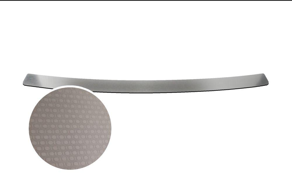 """Накладка на задний бампер Rival для Kia Rio Sedan 2013-, 1 штS02201005Накладка на задний бампер RIVALНакладка на задний бампер защищает лакокрасочное покрытие от механических повреждений и создает индивидуальный внешний вид автомобиля- Использование высококачественной итальянской нержавеющей стали AISI 304.- Надежная фиксация на автомобиле с помощью """"фирменного"""" скотча 3М.- Рельефный рисунок накладки придает автомобилю индивидуальный внешний вид.- Идеально повторяют геометрию бампера автомобиля.Уважаемые клиенты! Обращаем ваше внимание,что накладка имеет форму и комплектацию, соответствующую модели данного автомобиля. Фото служит для визуального восприятия товара."""