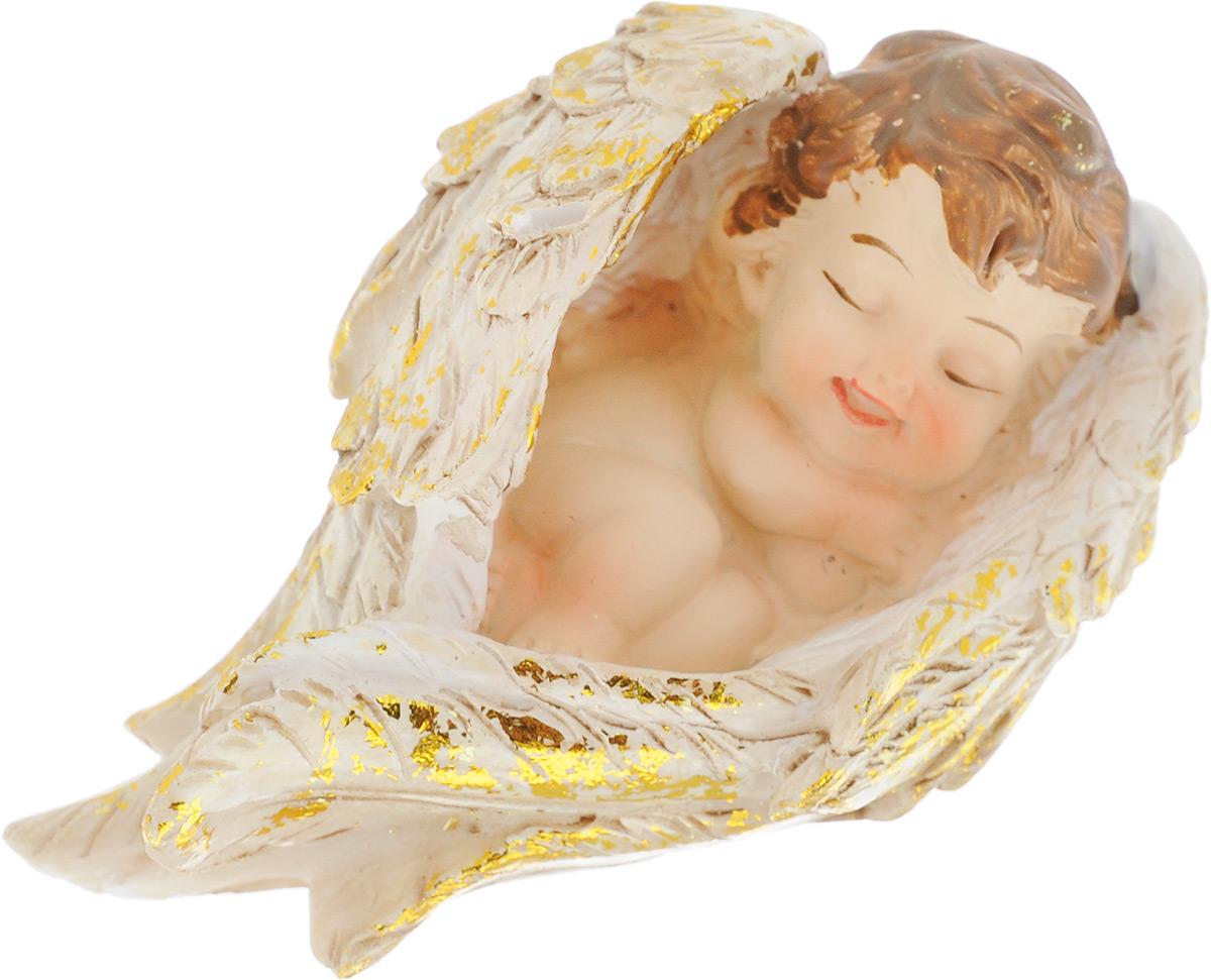 Фигурка декоративная Elan Gallery Спящий ангелочек, высота 4,5 см41619Декоративная фигурка Elan Gallery Спящий ангелочек, изготовленная из полистоуна, станет необычным аксессуаром для вашего интерьера. Изделие непременно вызовет улыбку и поднимет настроение.Эта очаровательная вещь станет отличным подарком вашим друзьям и близким.Размер фигурки: 4,5 х 7,5 х 4,5 см.